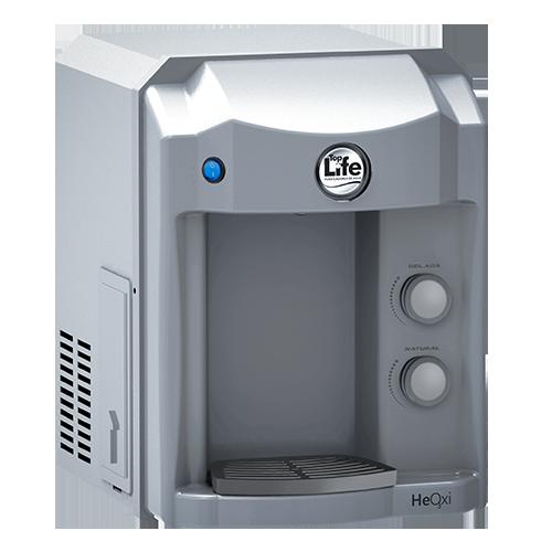 Purificador de água alcalina ionizada com ozônio top life new heoxi prata refrigerado 110v/220v