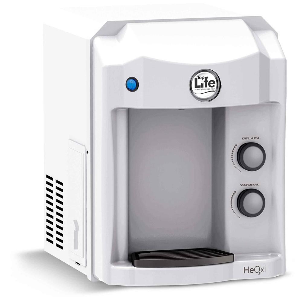 Purificador de água super alcalina ionizada com ozônio top life new heoxi refrigerado 110v/220v Branco