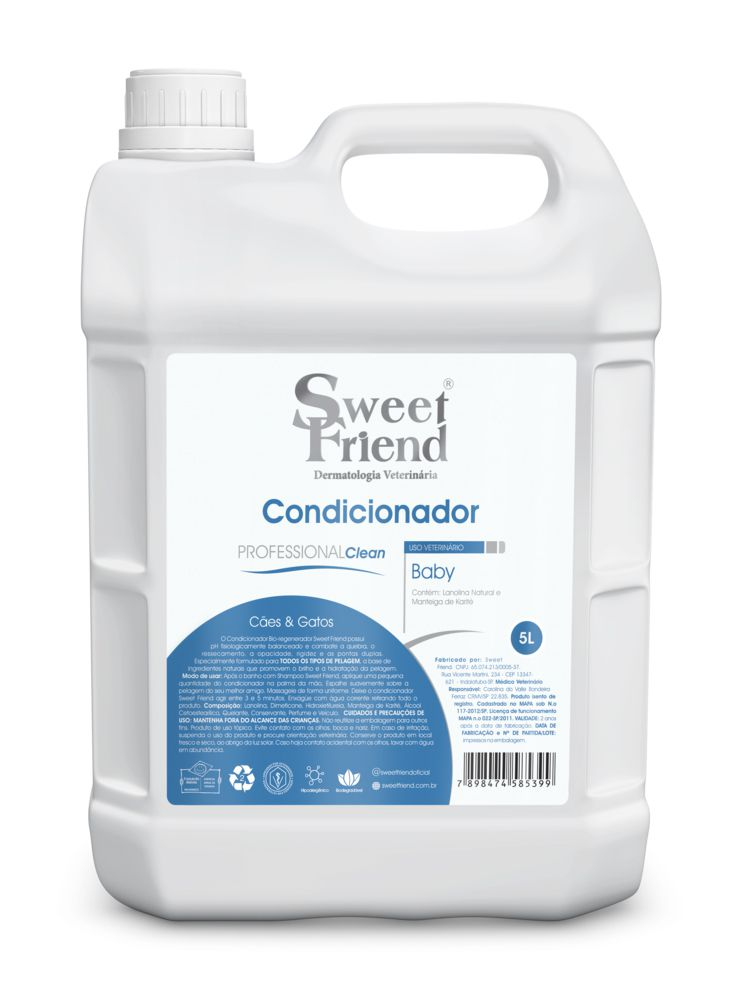Condicionador Professional Clean Baby Sweet Friend - 5 Litros