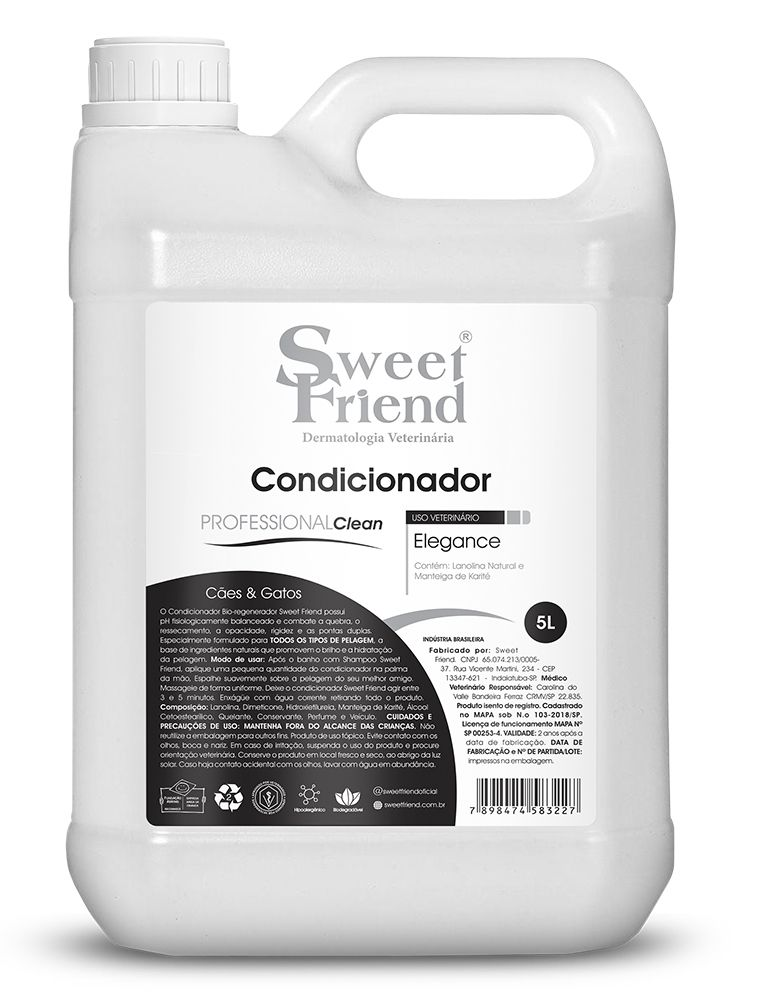 Condicionador Sweet Friend - Professional Clean Elegance 5 Litros