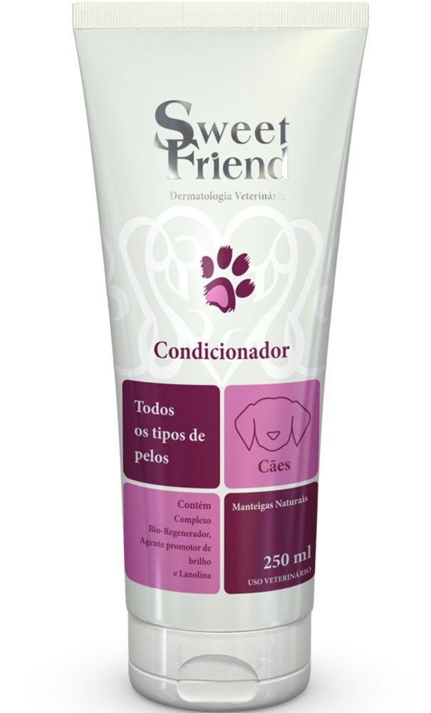 Condicionador Sweet Friend Intensive Care todos tipos de pelos para Cachorro - 250ml - Caixa com 20 Unidades