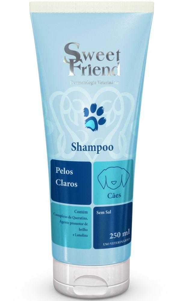 Shampoo Sweet Friend Intensive Care Pelos Claros para Cachorro - 250ml - Caixa com 20 Unidades