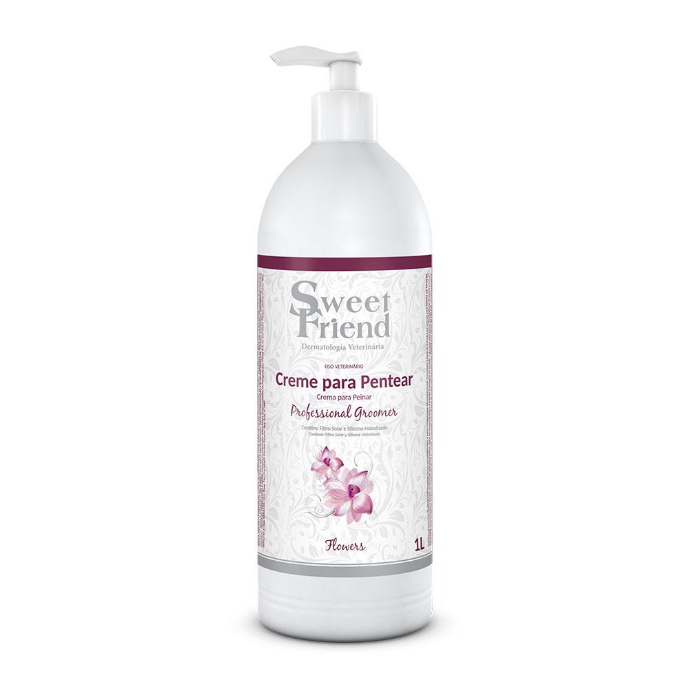 Creme para Pentear Professional Groomer Flowers  Sweet Friend - 1 Litro