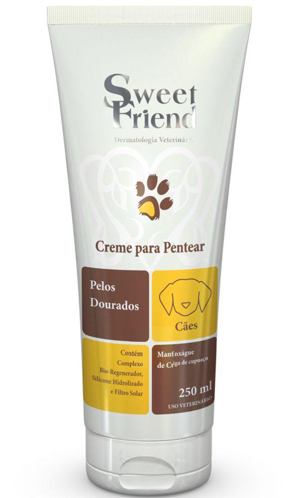 Creme para Pentear Sweet Friend Pelos Dourados para Cachorro - 250ml