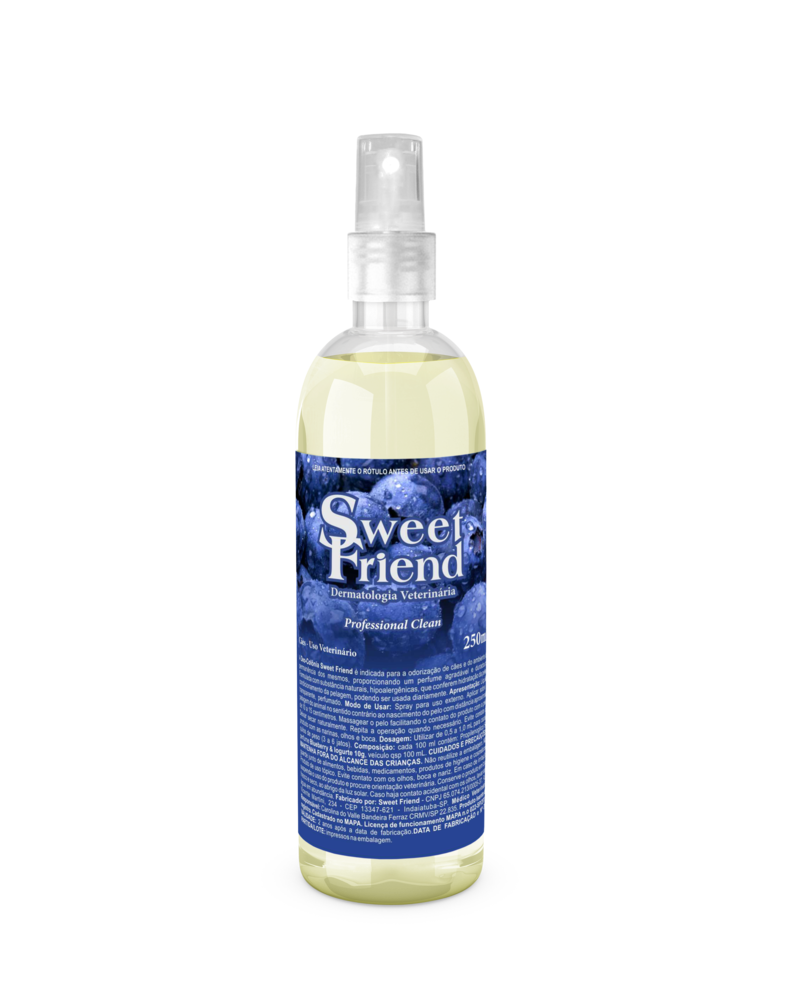 Perfume Sweet Friend - Blueberry & Iogurte - Deo-Colônia Cachorro 250mL