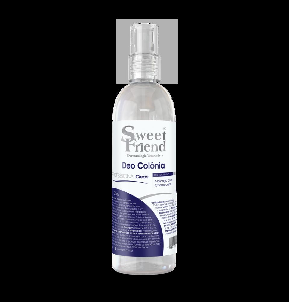 Perfume Sweet Friend - Professional Clean Morango com Champagne - Deo-Colônia Cachorro 250ml