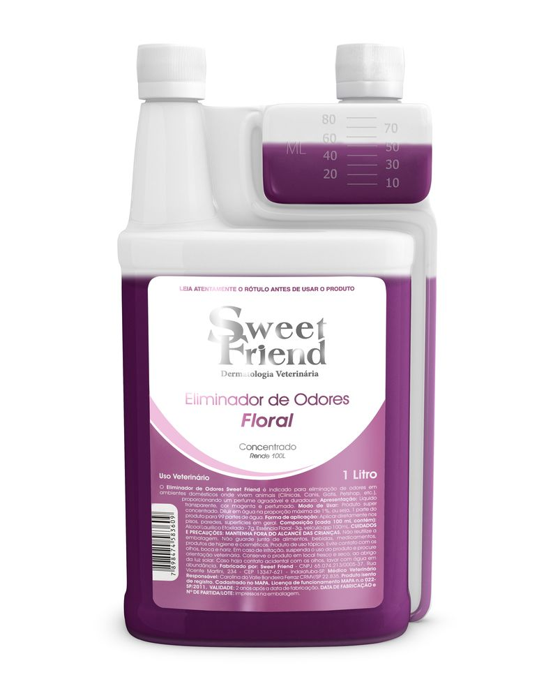 Eliminador de Odores Sweet Friend - Floral 1 Litro (Rende 99 litros)