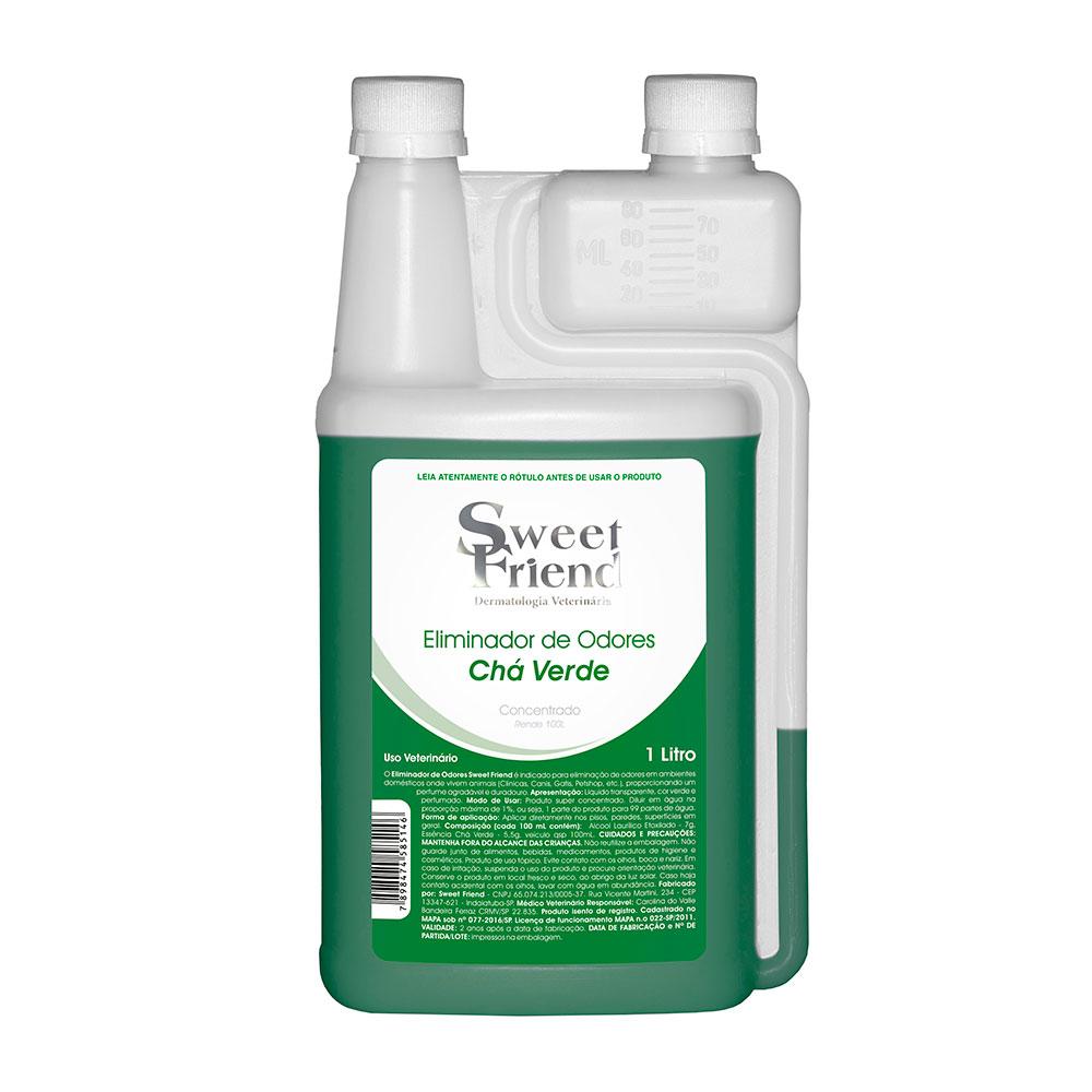 Eliminador de Odores Sweet Friend - Chá Verde 1 Litro (Rende 99 litros)