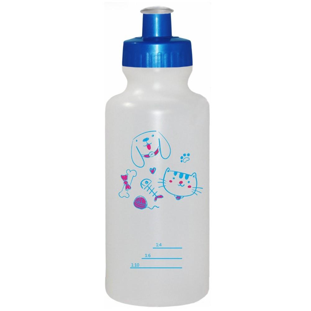 Frasco Almotolia para Diluição de Shampoo - Com marcações - Banho e Tosa - 500mL