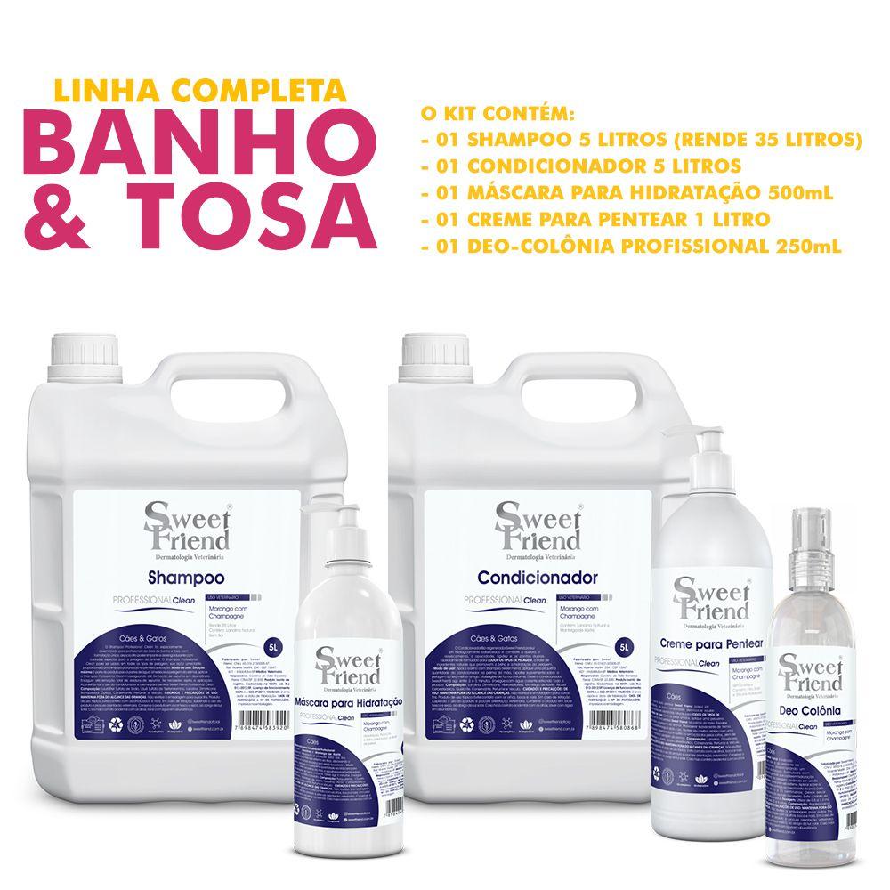 Kit de Produtos Sweet Friend para Banho e Tosa - Professional Clean