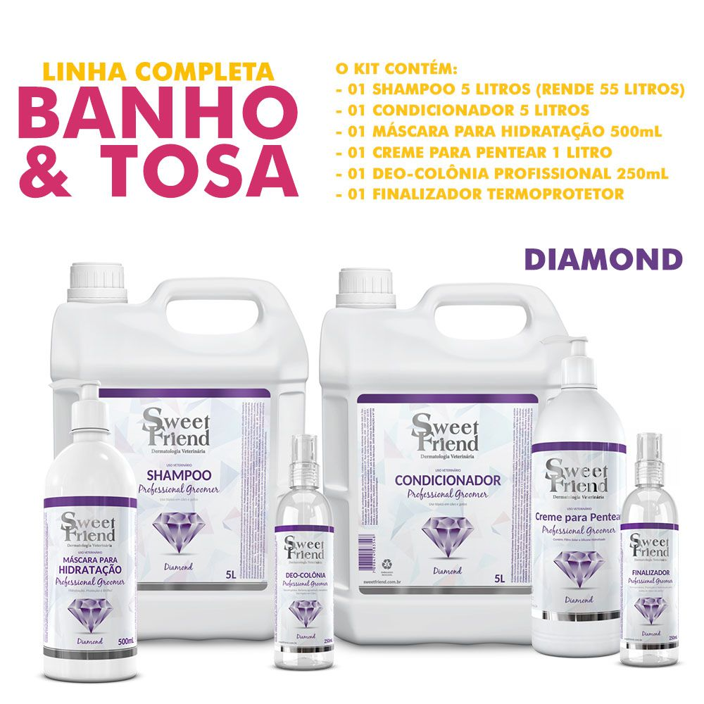 Kit de Produtos Sweet Friend para Banho e Tosa - Professional Groomer Diamond
