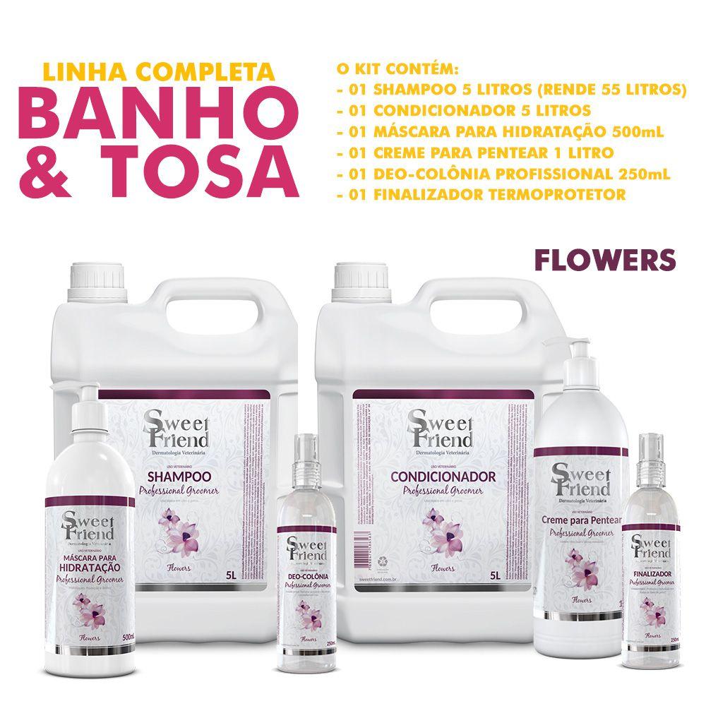 Kit de Produtos Sweet Friend para Banho e Tosa - Professional Groomer Flowers