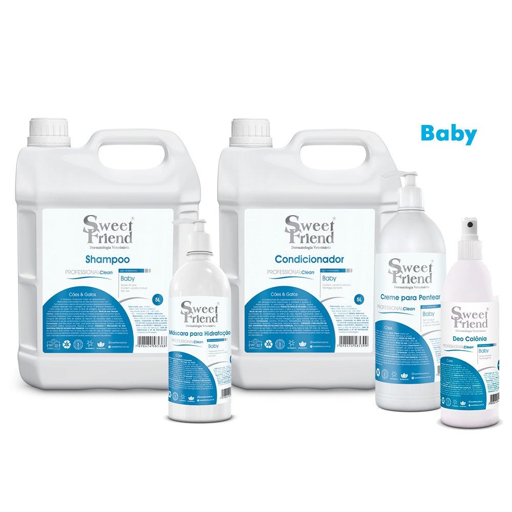 Kit de Produtos Sweet Friend para Banho e Tosa - Professional Clean Baby