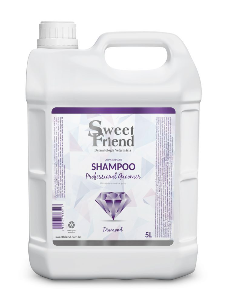 Kit Shampoo, Condicionador e Deo-Colônia - Professional Groomer Diamond - Sweet Friend