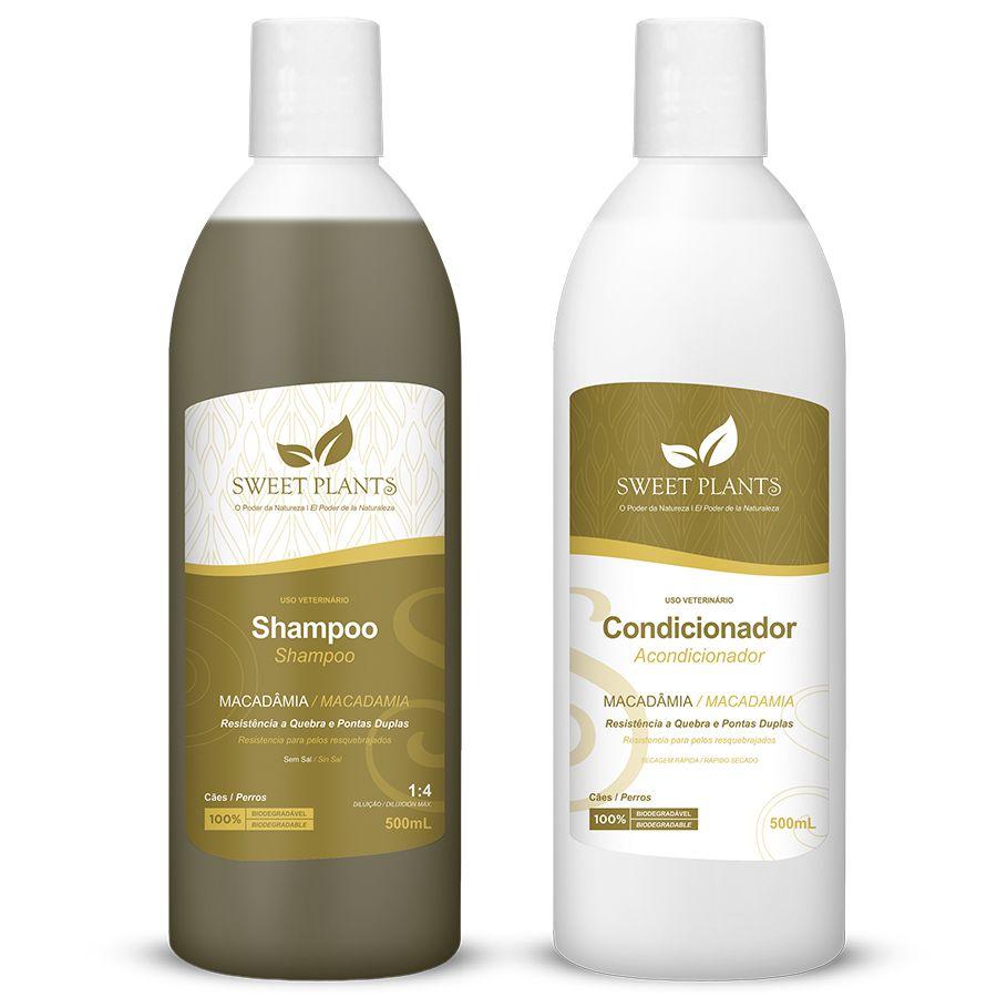 Kit Shampoo e Condicionador Macadâmia - Sweet Plants - Sweet Friend 500mL