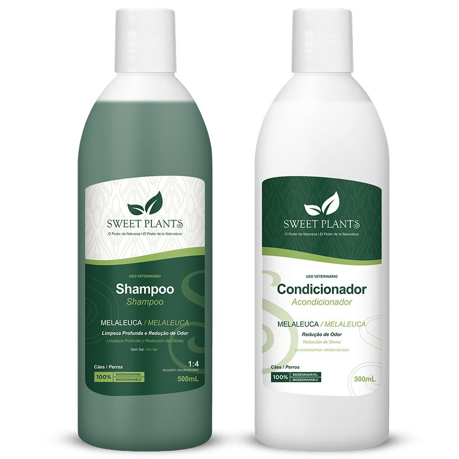 Kit Shampoo e Condicionador Melaleuca - Sweet Plants - Sweet Friend 500mL