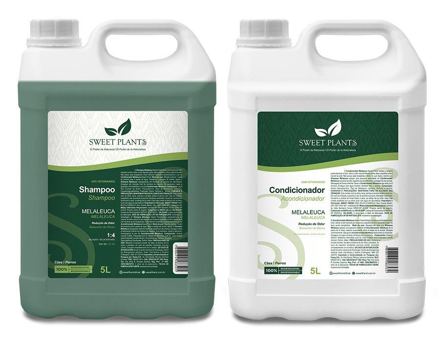 Kit Shampoo e Condicionador Melaleuca - Sweet Plants - Sweet Friend 5L