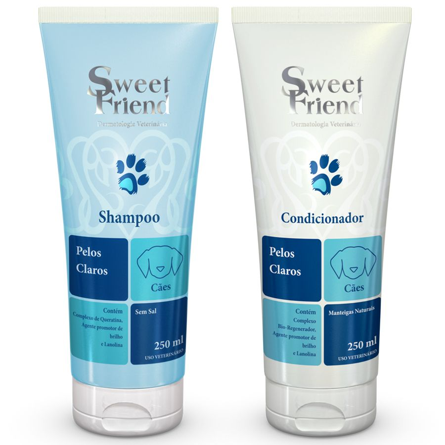Kit Shampoo e Condicionador - Pelos Claros - Sweet Friend