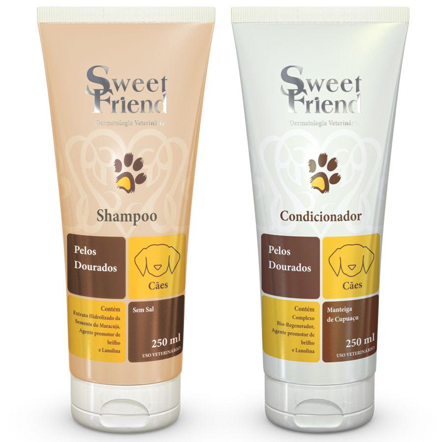 Kit Shampoo e Condicionador - Pelos Dourados - Sweet Friend