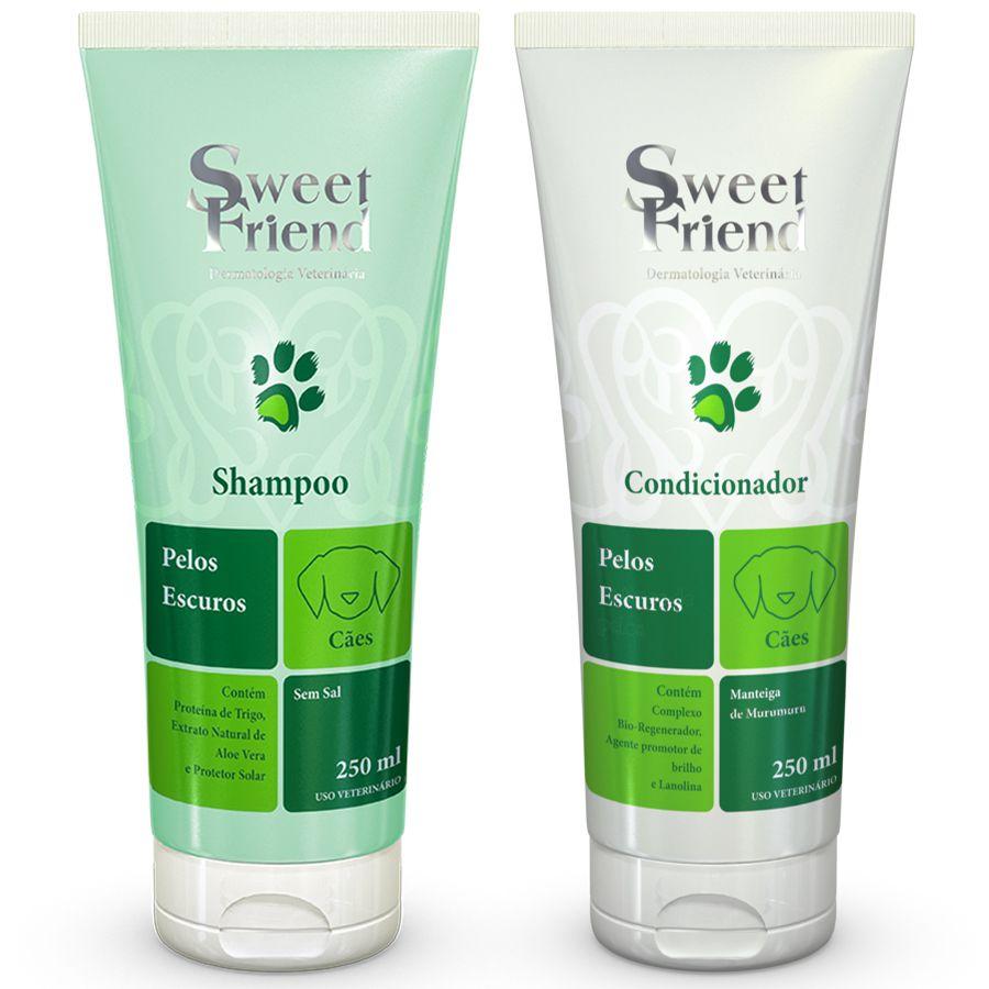Kit Shampoo e Condicionador - Pelos Escuros - Sweet Friend