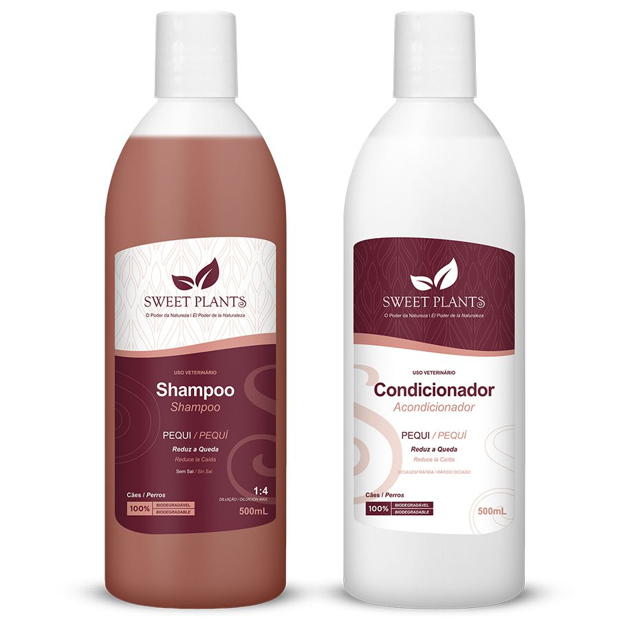 Kit Shampoo e Condicionador Pequi - Sweet Plants - Sweet Friend 500mL