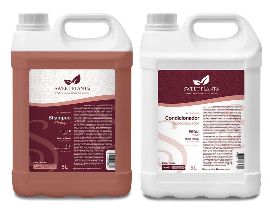 Kit Shampoo e Condicionador Pequi - Sweet Plants - Sweet Friend 5L