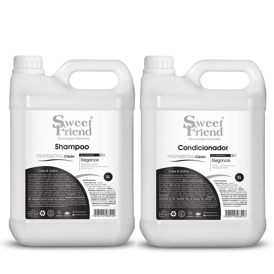 Kit Shampoo e Condicionador - Professional Clean Elegance- Sweet Friend