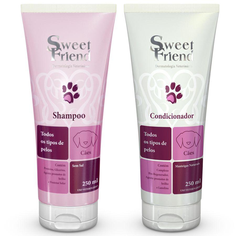 Kit Shampoo e Condicionador - Todos os Tipos de Pelos - Sweet Friend