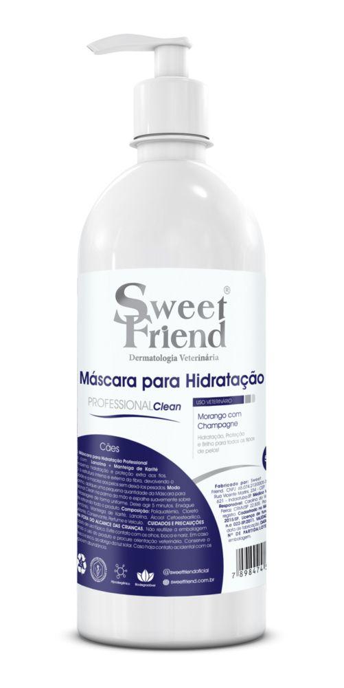 Máscara para Hidratação Professional Clean Morango com Champagne Sweet Friend - 500ml