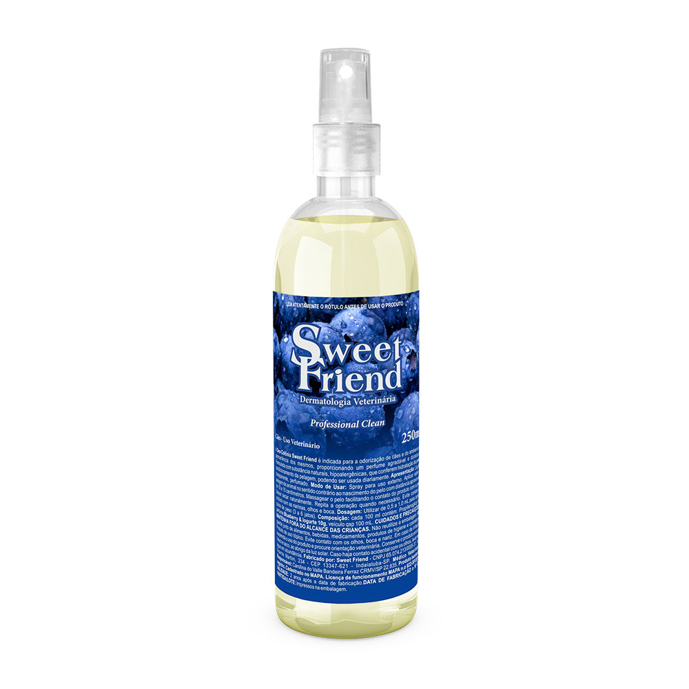 Perfume Sweet Friend - Blueberry & Iogurte - Deo-Colônia Cachorro 250mL