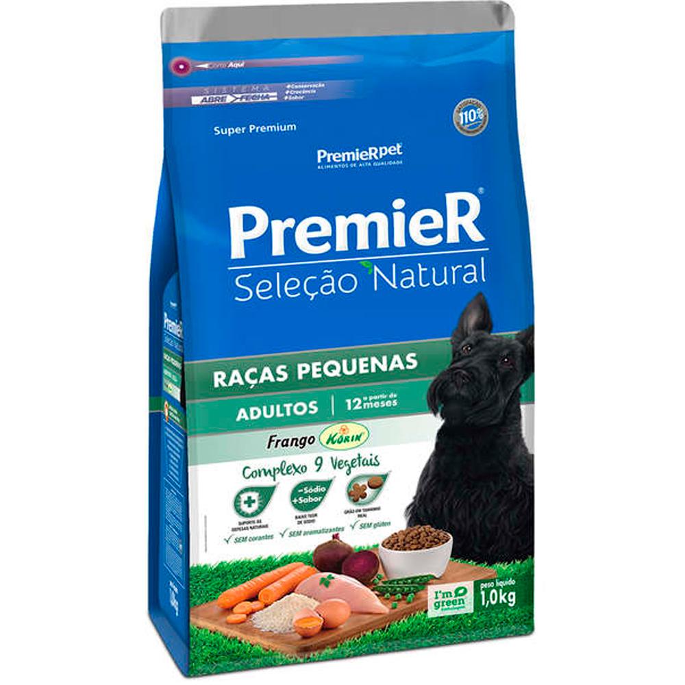 Ração Premier Seleção Natural para Cães Adultos Raças Pequenas 1kg