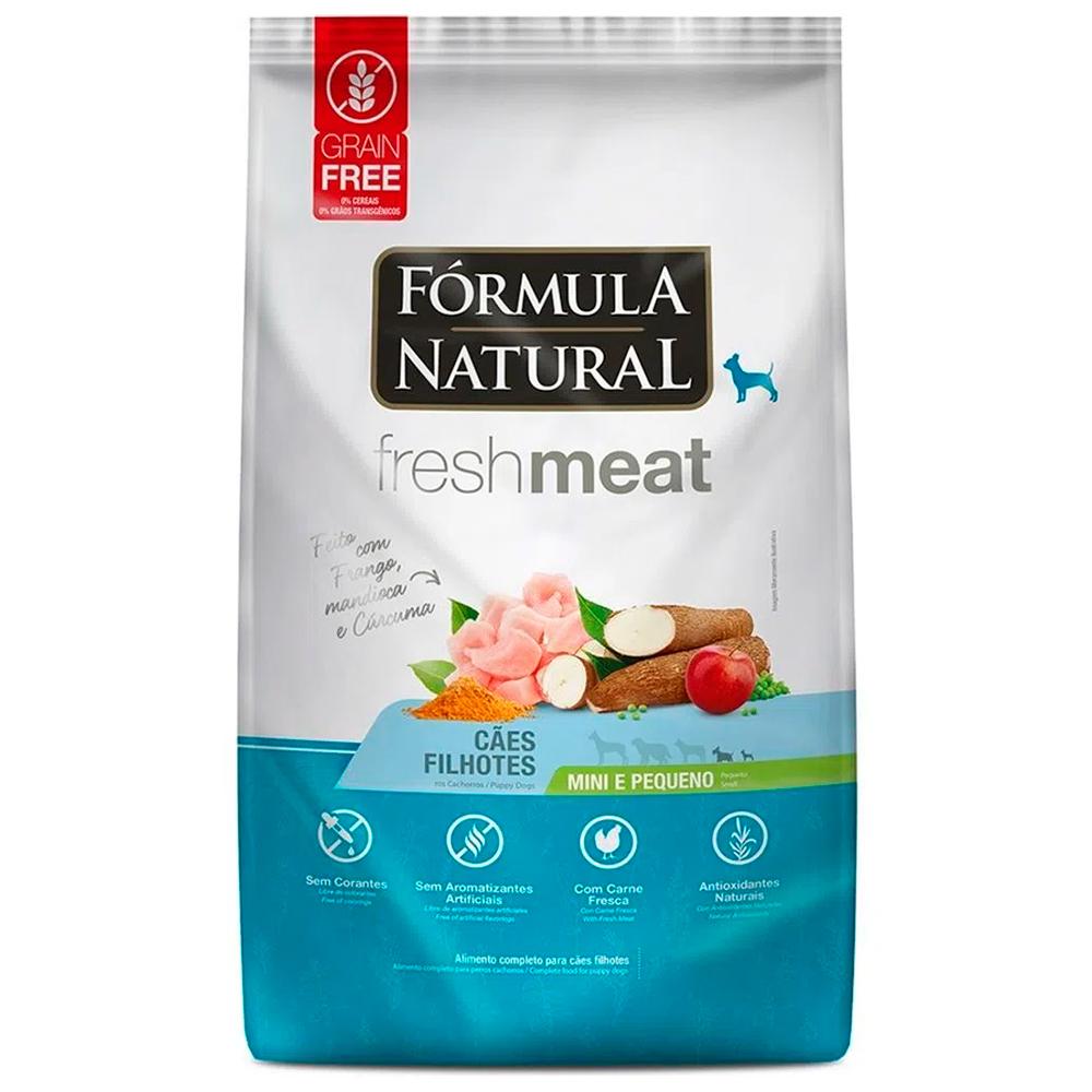 Ração Seca Fórmula Natural Fresh Meat Cães Filhotes Raças Mini e Pequena Sabor Frango 1kg
