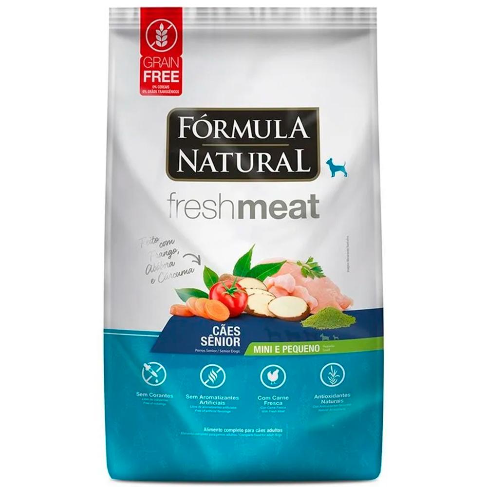 Ração Seca Fórmula Natural Fresh Meat Cães Seniors Raças Mini e Pequena Sabor Frango 1kg