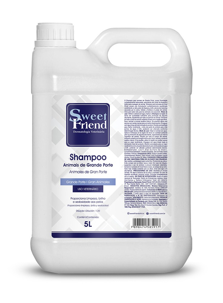 Shampoo Animais de Grande Porte - Sweet Friend - 5 Litros