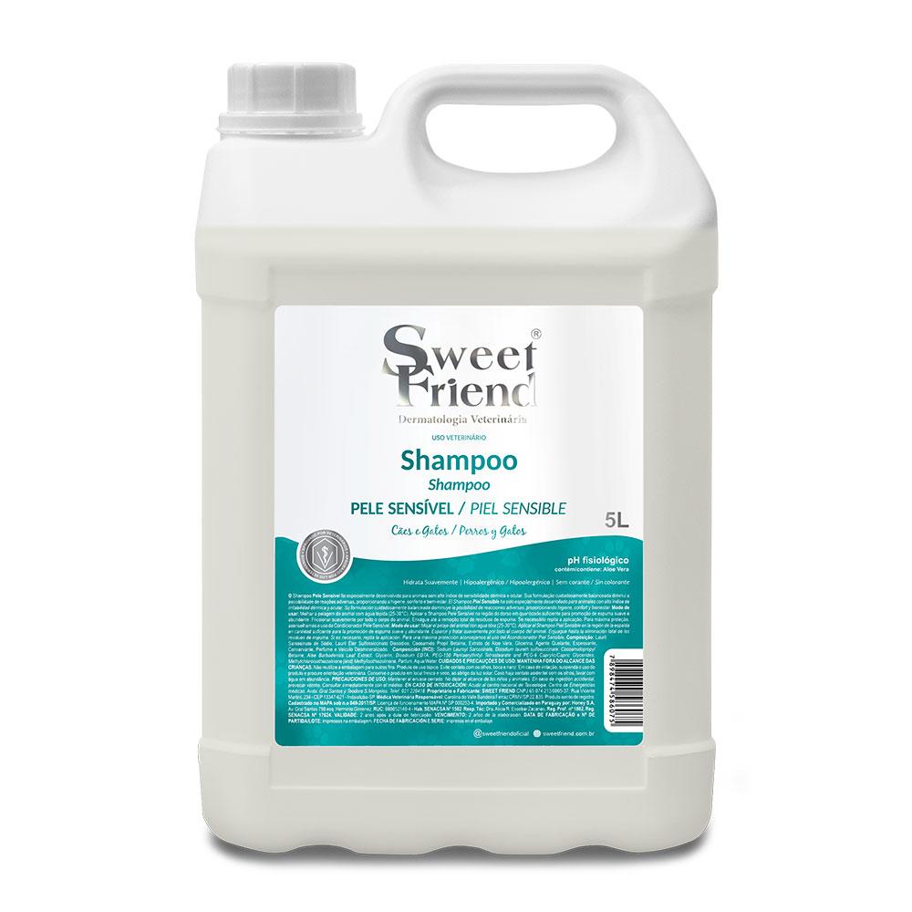 Shampoo Pele sensível  Adultos e Filhotes  Sweet Friend 5 litros