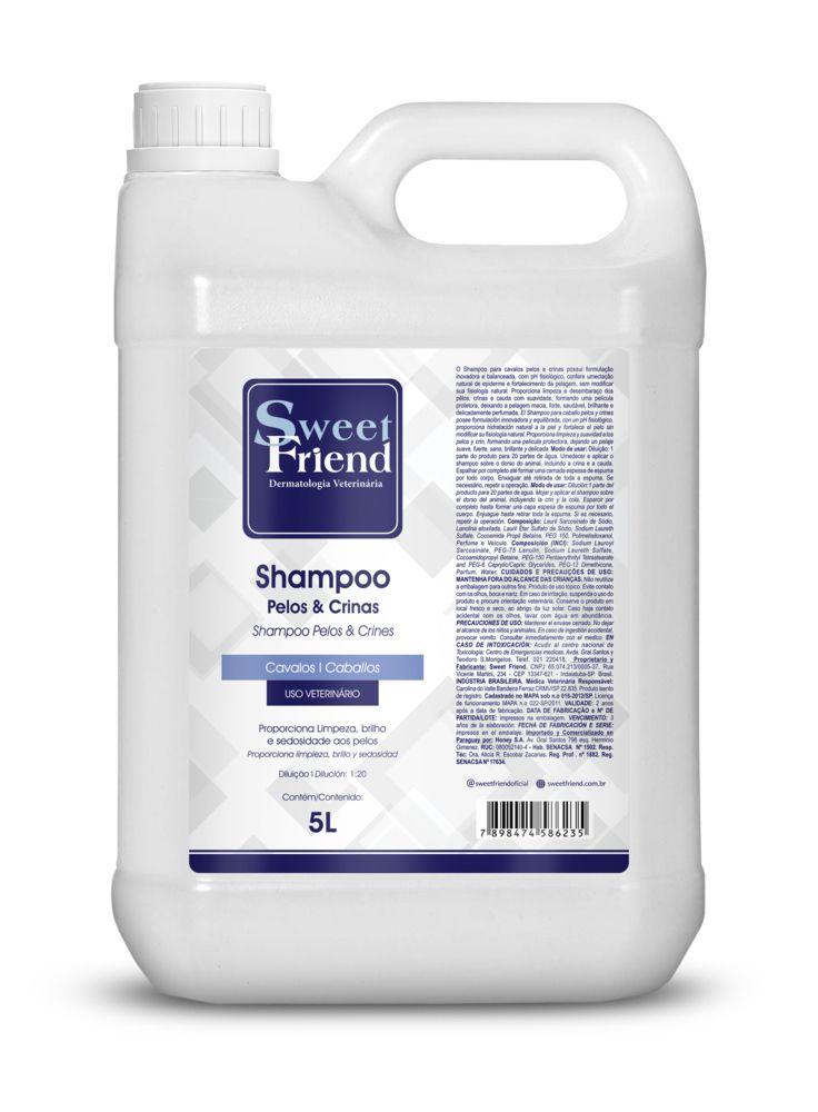 Shampoo Pelos e Crinas - Cavalos - Sweet Friend 5 Litros