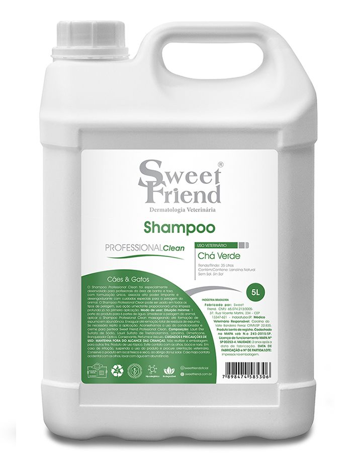 Shampoo Professional Clean Chá Verde Sweet Friend - 5 Litros