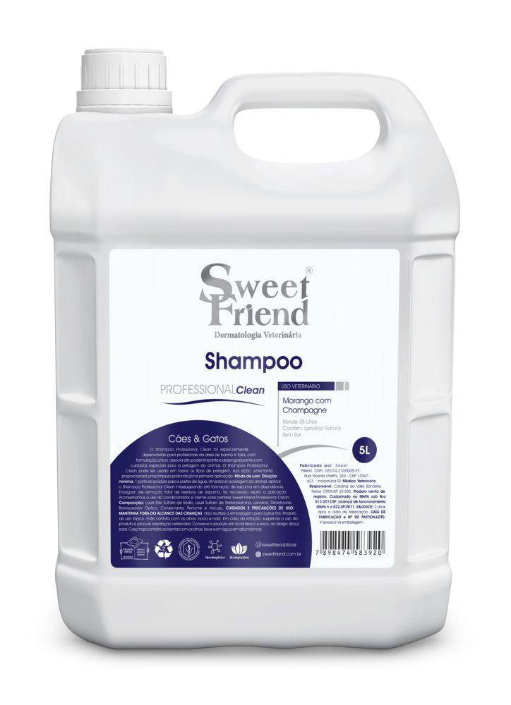 Shampoo Professional Clean Morango com Champagne Sweet Friend - 5 Litros