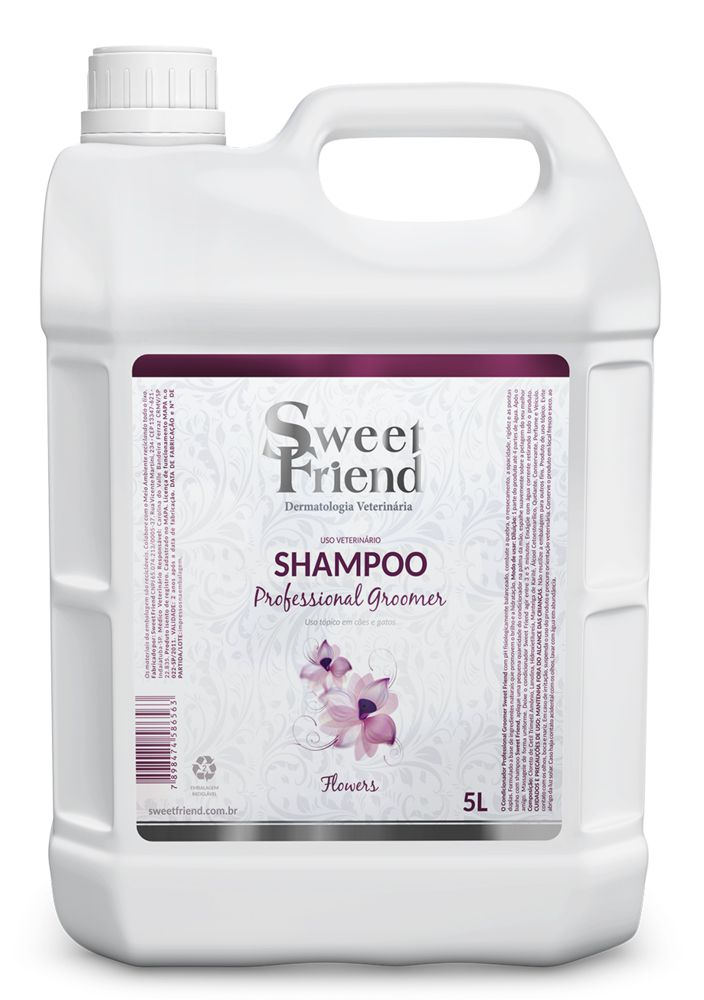 Shampoo Professional Groomer Flowers – Sweet Friend - 5 Litros