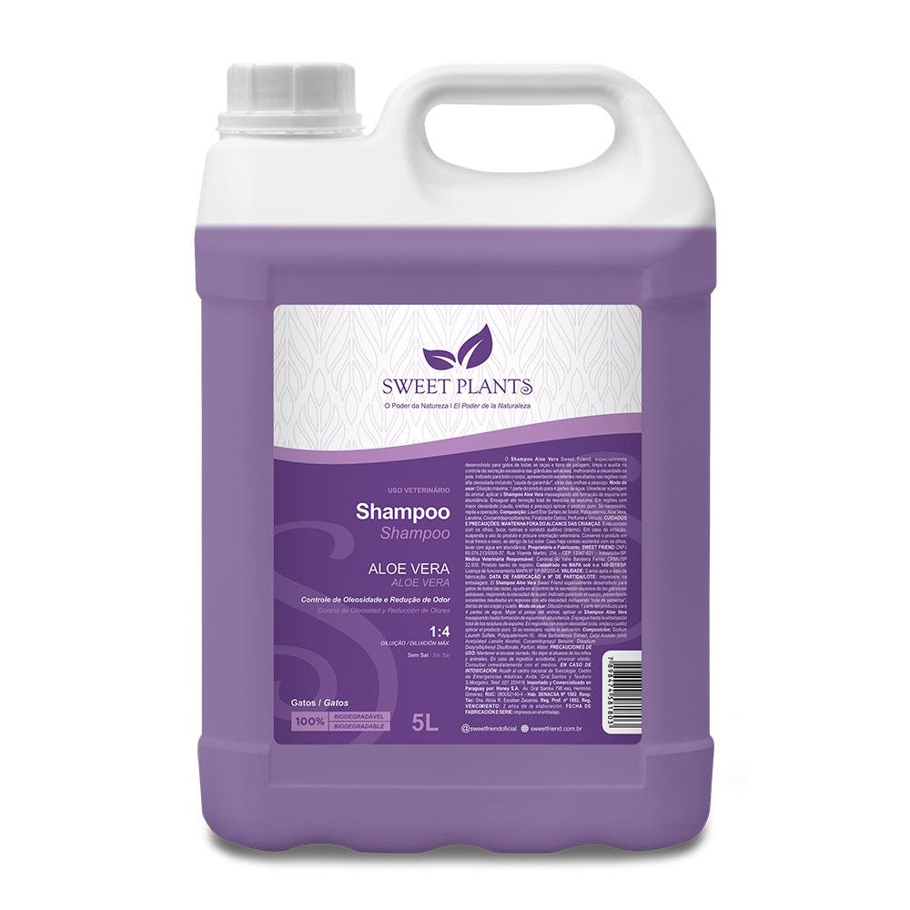 Shampoo Sweet Friend Aloe Vera para Gatos - Sweet Plants 5 Litros