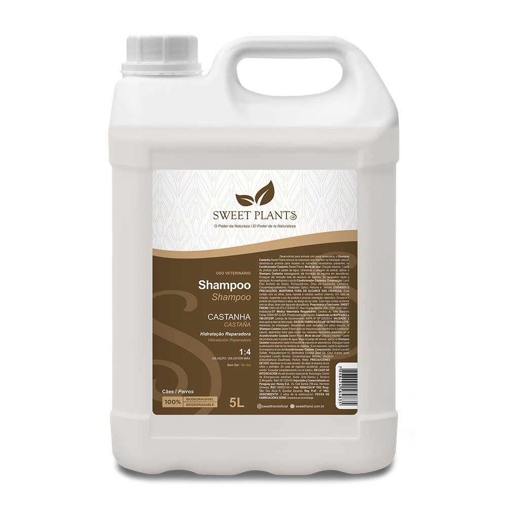 Shampoo Sweet Friend Castanha para Cachorro - Sweet Plants 5 Litros
