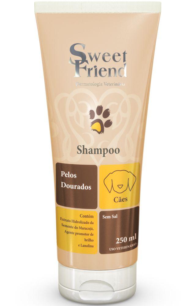 Shampoo Sweet Friend Intensive Care Pelos Dourados para Cachorro - 250ml