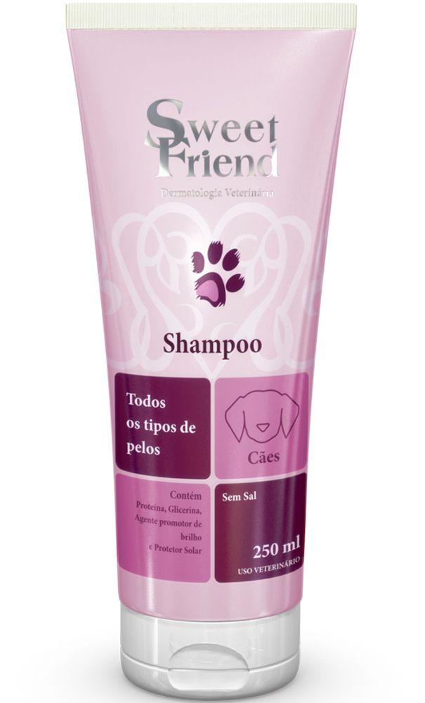Shampoo Sweet Friend Intensive Care todos tipos de pelos para Cachorro - 250ml - Caixa com 20 Unidades