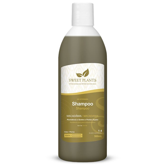 Shampoo Sweet Friend Macadâmia para Cachorro - Sweet Plants 500ml