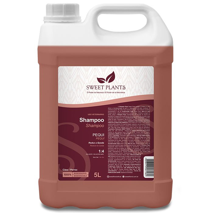 Shampoo Sweet Friend Pequi para Cachorro - Sweet Plants 5 Litros