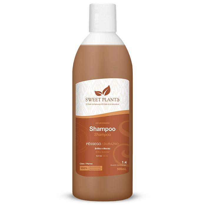 Shampoo Sweet Friend Pêssego para Cachorro - Sweet Plants 500ml