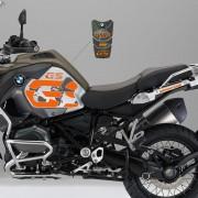 KIT Adesivos Protetor Tanque BMW R1200 Gs Adventure - LARANJA