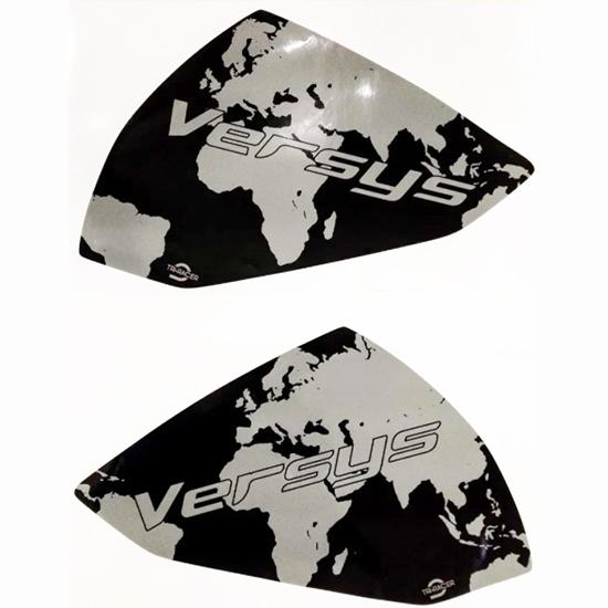 Adesivo Lateral Tanque Kawasaki Versys 300 Mapa Cinza