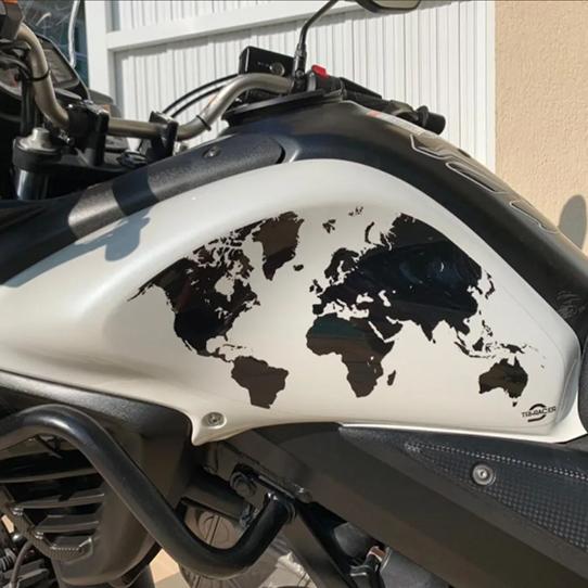 Adesivo Protetor Lateral Tanque Suzuki V Strom 650 Mapa