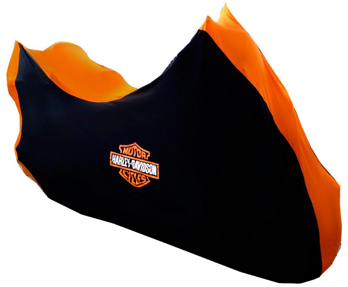 Capa Para Moto DualColor Harley Davidson Tam. GG Baú (permeavel)